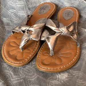 Born Concepts BOC Sandals Pewter Silver Metallic